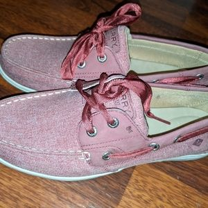NEW Sperry Koifish Chambray Sparkle - Wine- Sz. 8